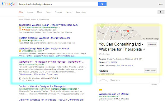 Getting your Therapy Website listed on page one - Websites for Therapists by YouCan