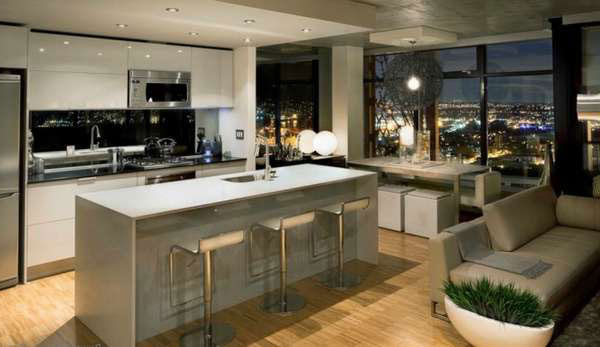 Home Architec Ideas Apartment Small Kitchen And Living Room Designs Combine