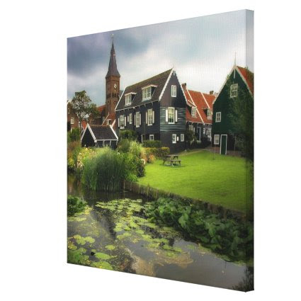 Quiet Marken Canal, Sights of the Netherlands Canvas Print