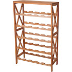 Lavish Home Classic Rustic Wood 25 Bottle Wine Rack, Brown