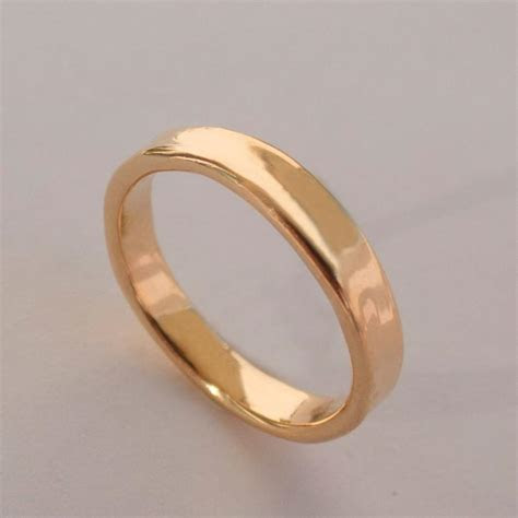 Simple Gold Wedding Band   14k Rose Gold Ring , Unisex