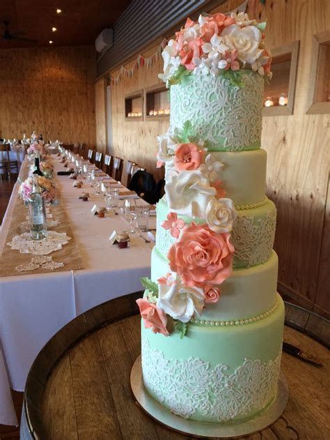 25  Best Ideas about Mint Wedding Cake on Pinterest