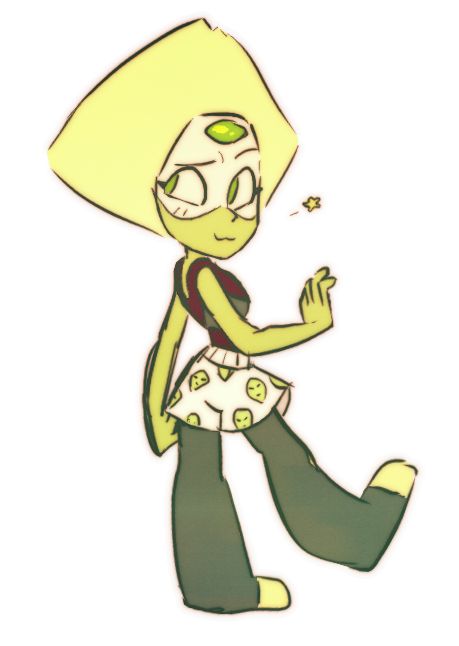 APPEARANCE MODDIFIERS THAT ARENT MELDED TO YOUR BODY I had to draw Peridot from this super cute scene!!  Tumblr