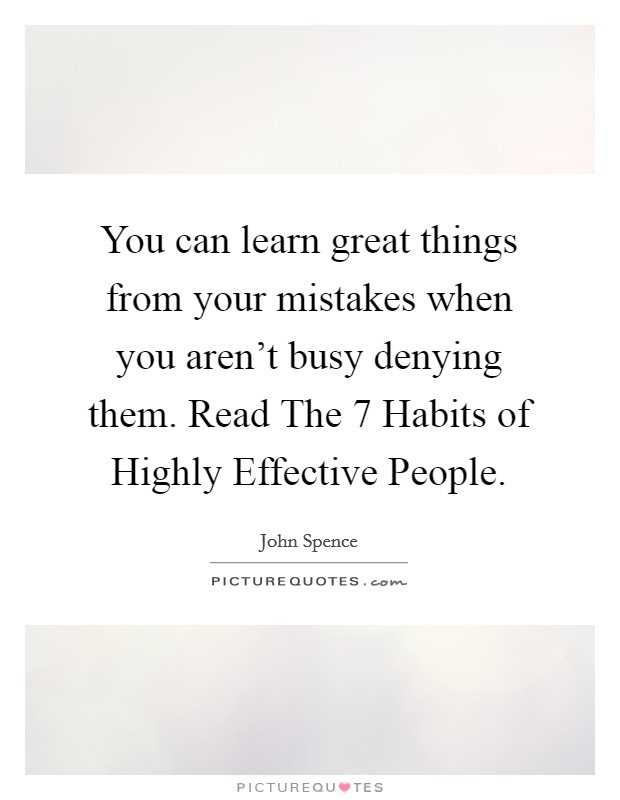 You Can Learn Great Things From Your Mistakes When You Arent