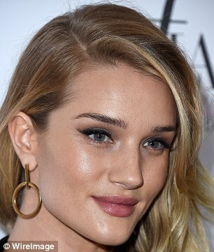 Sculptural shapes:  Rosie Huntington-Whiteley, 28, is a fan of the Vita Fede's new hoop shape