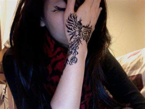 image result wrist hand tattoos phoenix small