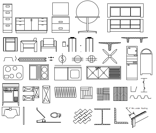 Interior Design Furniture Symbols