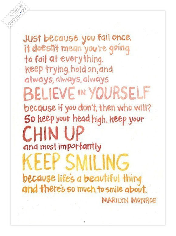 Keep Your Chin Up Motivational Quote Quotezco