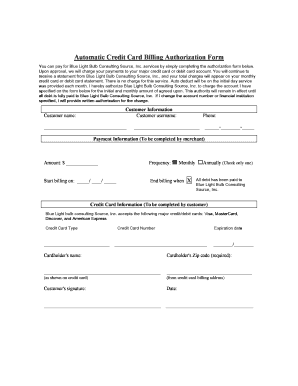 Credit Card Billing Authorization Form - FREE 8+ Credit Card Authorization Form Samples in PDF / A credit card authorization form is a document whereby the credit card holder authorizes the service provider to deduct charges for their service or services from the account of the credit card holder.