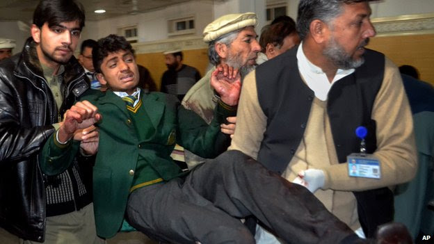 Breaking News : officials say 5 arrested for Pakistan school massacre (Associated Press)