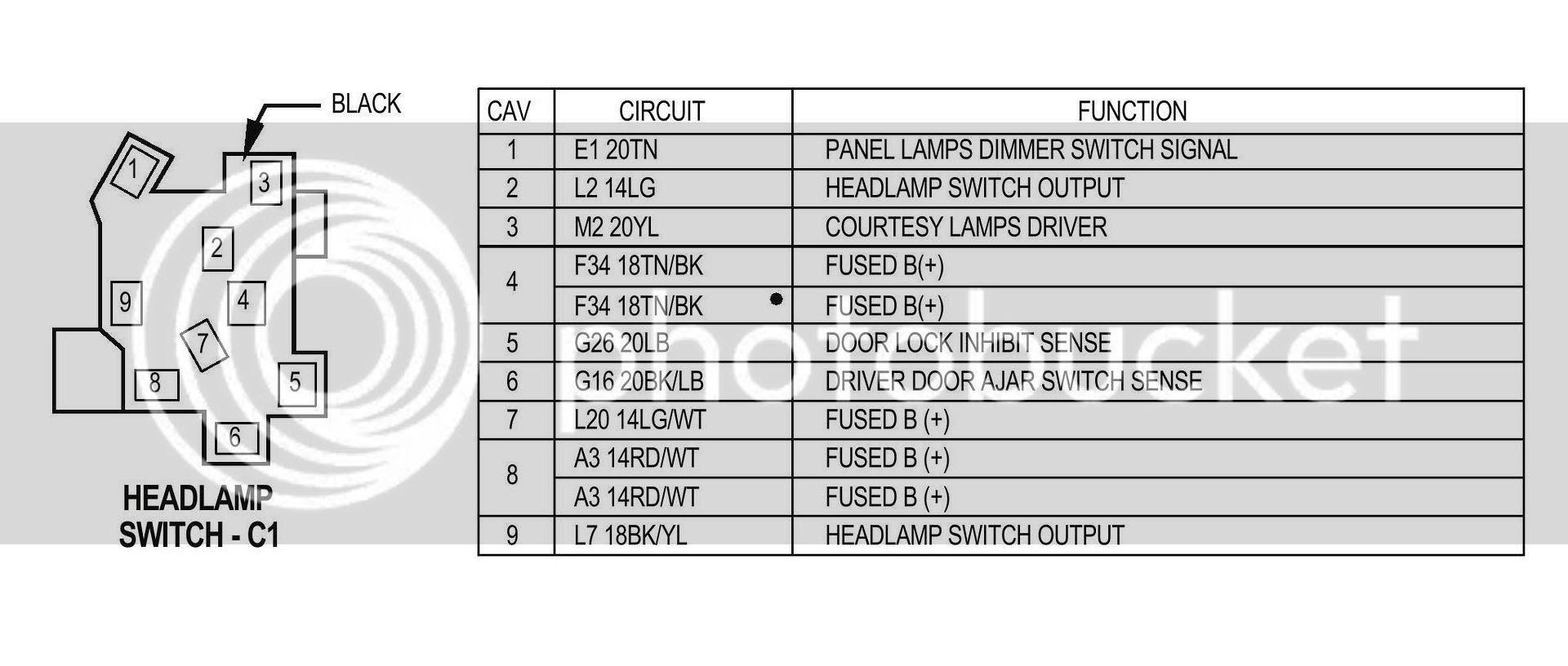 Jeep Yj Headlight Switch Wiring Diagram