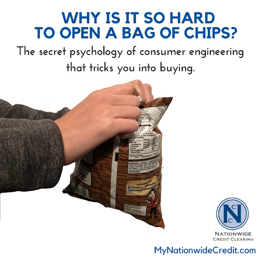 Why is it so hard to open a bag of potato chips? The secret psychology of consumer engineering that tricks you into buy. - Chicago Credit Repair