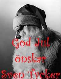 Sven Tycker önskar er alla en riktigt God Jul