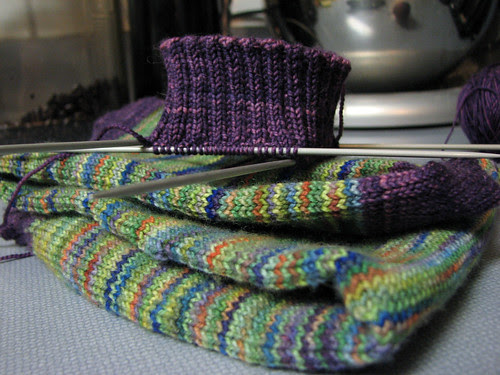 Knee sock and cuff