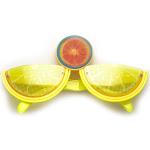 Watermelon Slice Fruit Shape Silly Fun Novelty Party Glasses, Lemon