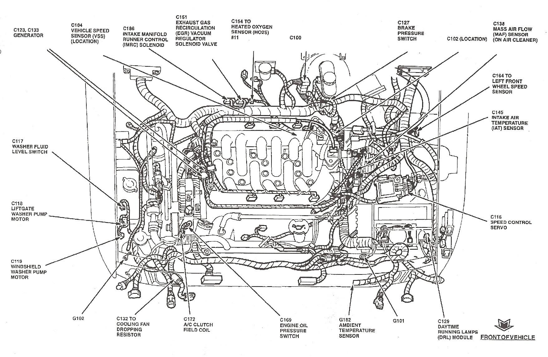 Ford Tauru V6 Vortec Engine Diagram