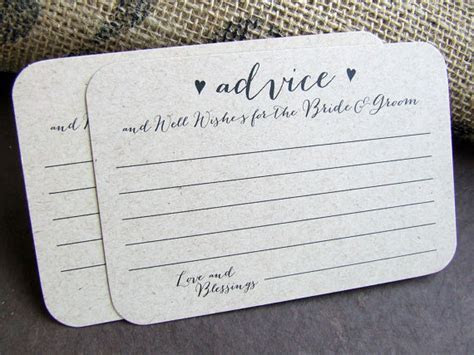 100 Wedding Advice For The Bride And Groom Printed Cards