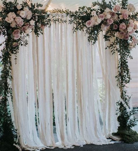 25  best ideas about Curtain backdrop wedding on Pinterest