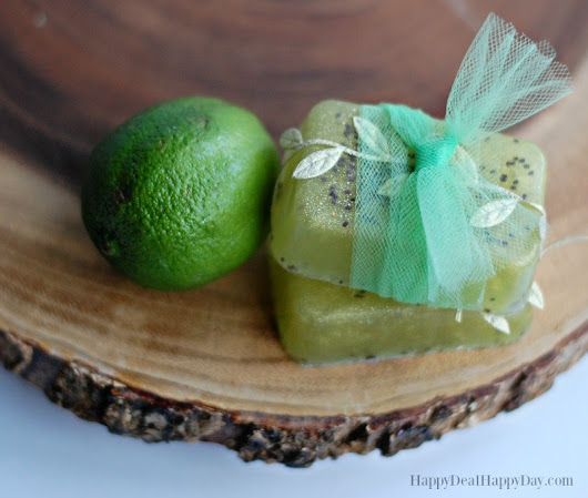 Easy Melt & Pour Lime and Cedarwood Soap with Chia Seeds | Happy Deal - Happy Day!
