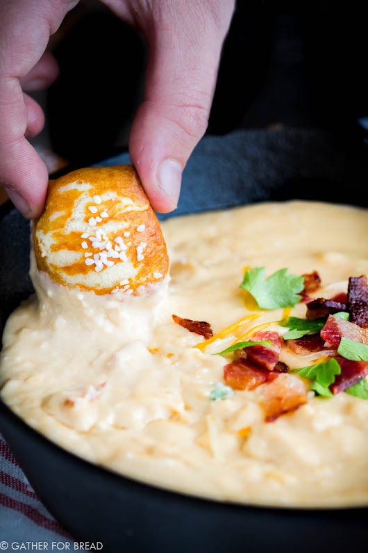Bacon Beer Cheddar Dip - Gather for Bread