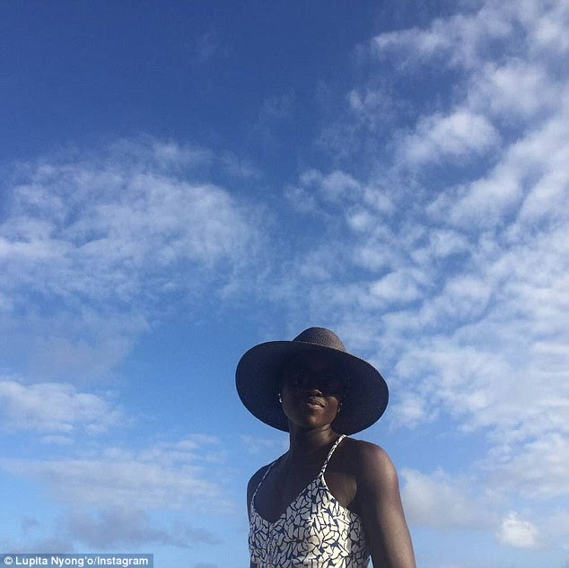 Sky's the limit: She first shared an image from the holiday on Saturday