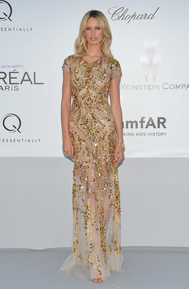 Best7 - Karolina Kurkova in Roberto Cavalli@amfAR gala 2012-05-24 Cannes 1