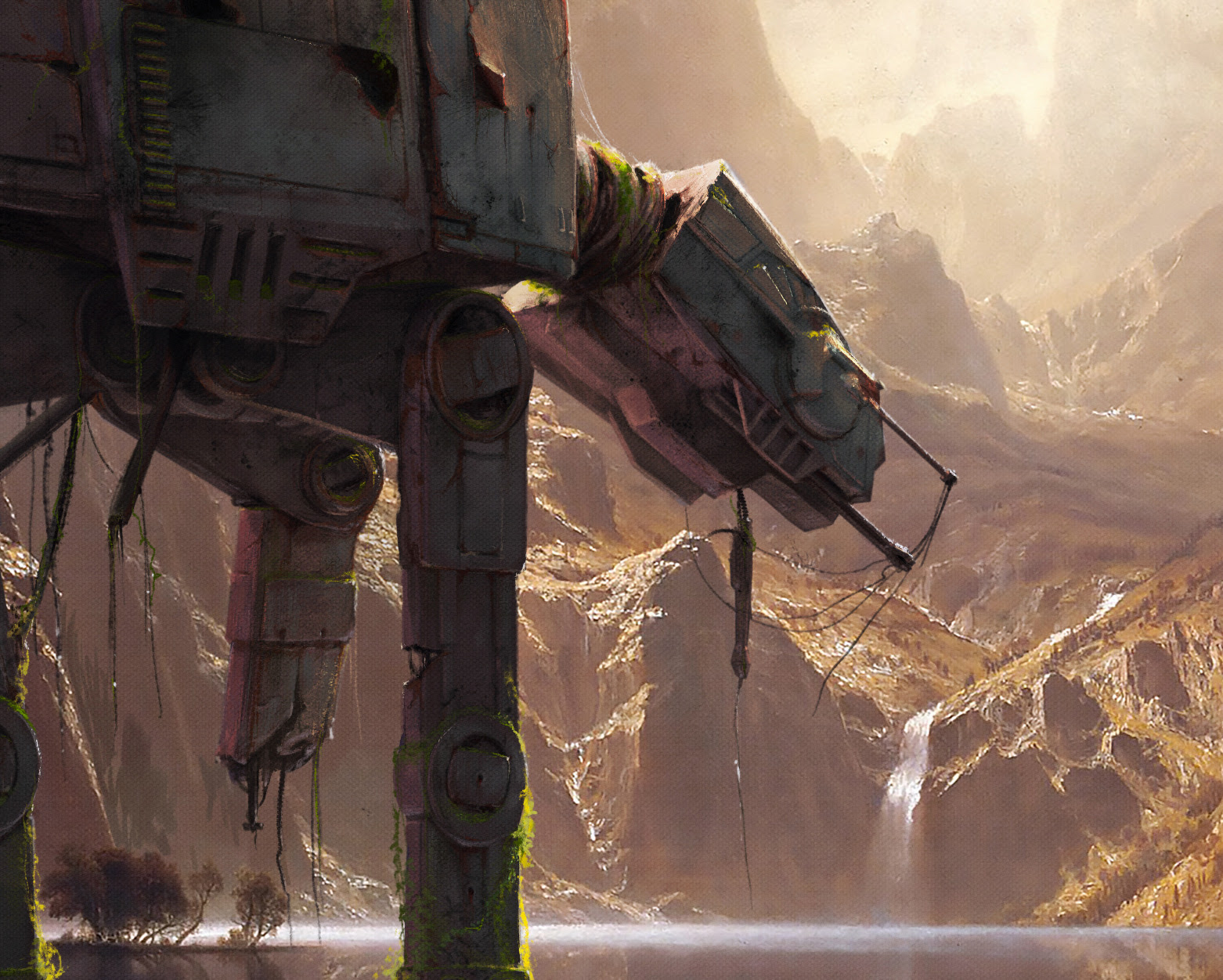 Close up of the AT-AT overpainting image