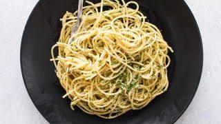 Dinner For One Easy Pasta With Olive Oil Garlic Girl Gone Gourmet