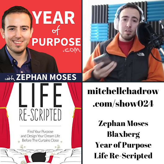 Motivational Speaker Zephan Moses Blaxberg Create Your Life on Purpose with Show 024 - Startup Entrepreneur Listenup Show