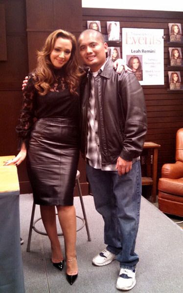 A photo I took with Leah Remini inside the Barnes & Noble bookstore at The Grove in Los Angeles...on December 8, 2015.