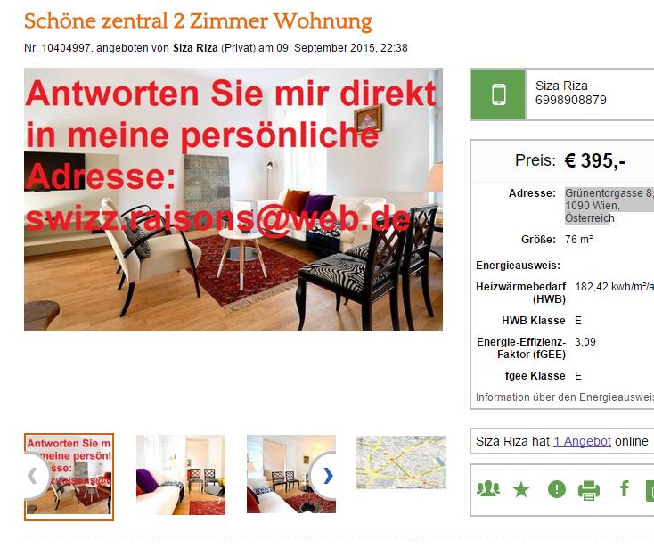Wohnungsbetrug.blogspot.com: 9. September 2015
