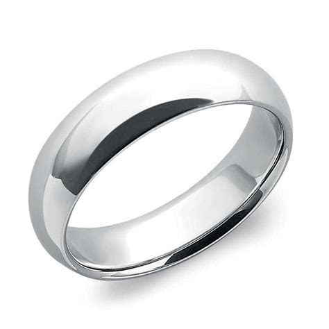 6mm Comfort Fit Platinum Wedding Band for Men SJ PTO 258
