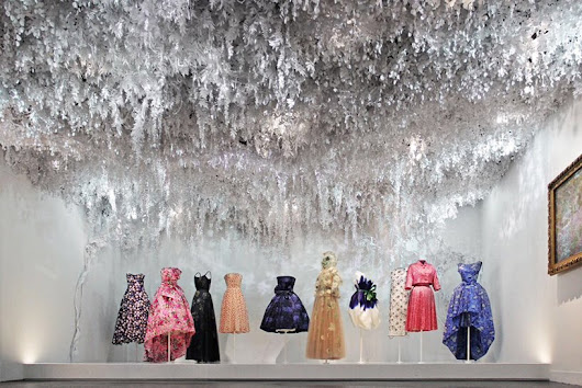 wanda barcelona crafts lush paper garden for Dior's 70th anniversary