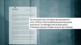 Carta del president d'Òmnium Cultural a Muriel Casals