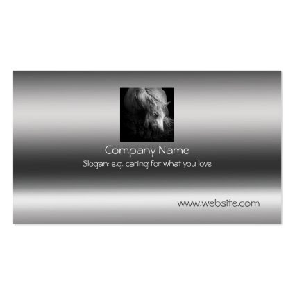 Fine Art Pony Head and Mane on metallic-effect Business Cards