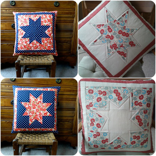 Wonky Star Cushion Class samples