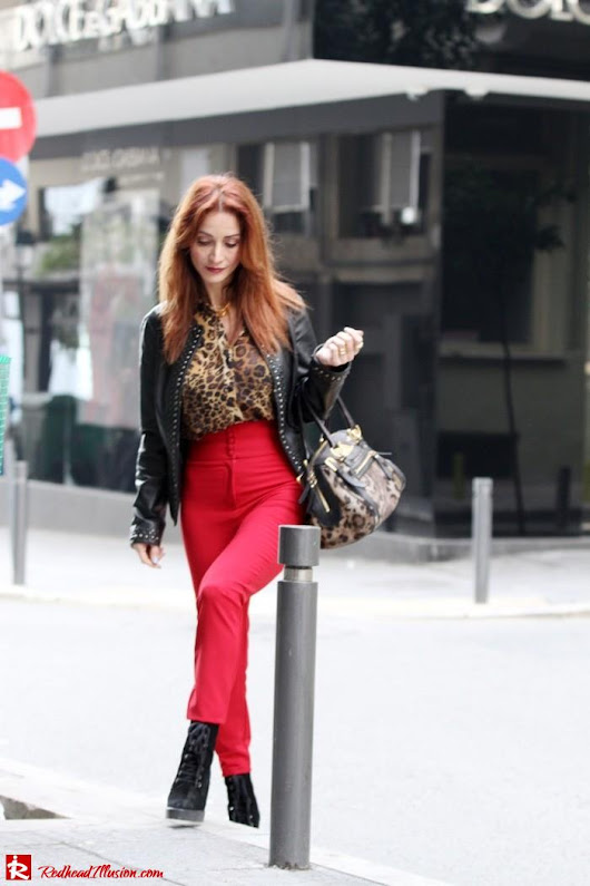 Animal print in red!