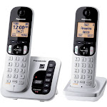 Panasonic KX-TGC222S Expandable Cordless Phone with Handset - Silver
