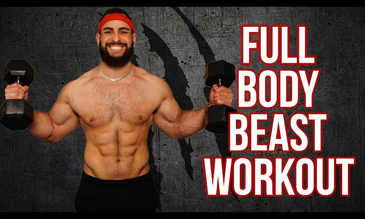 12 Minute Home Full Body Workout Using Only Dumbbells (Build Muscle With...