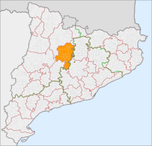 Localització del Solsonès respecte Catalunya