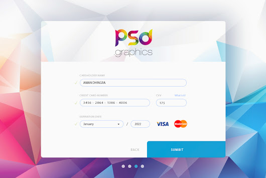 Credit Card Form UI Free PSD Graphics | PSD Graphics