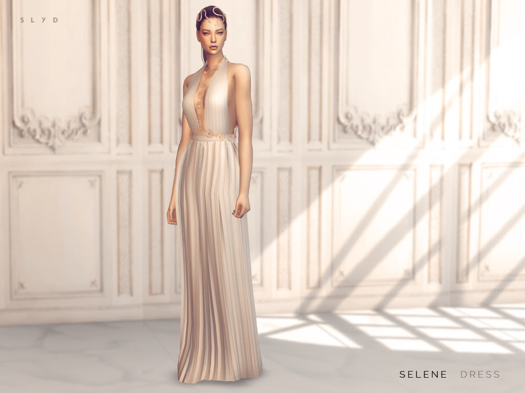 """Selene Dress This dress was inspired by the Valentino 2016 Haute Couture collection. But I ended up changing the design because the original was too complicated to mesh. - 1 color - Body chain can be found in 'Necklace'. - Polycount: 9000 """" DOWNLOAD:..."""