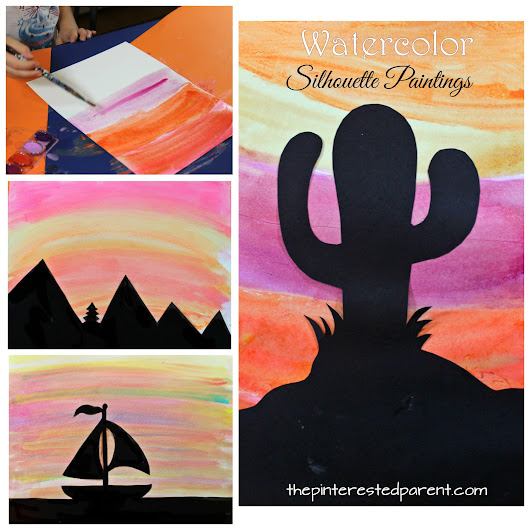 Watercolor Silhouette Landscapes – The Pinterested Parent