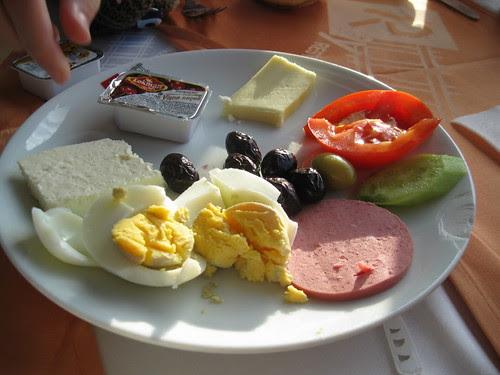 Turkish Breakfast on train