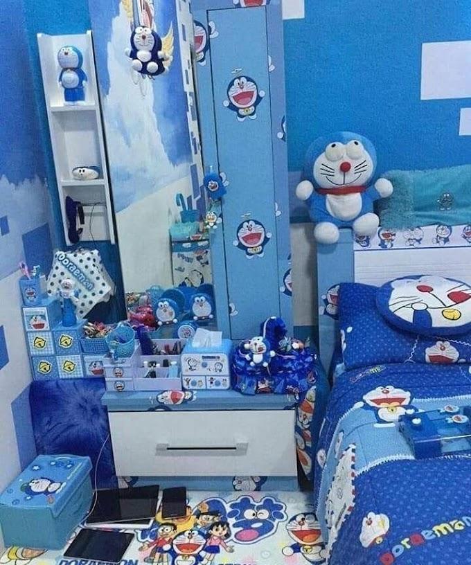 Desain Kamar Minimalis Tema Doraemon
