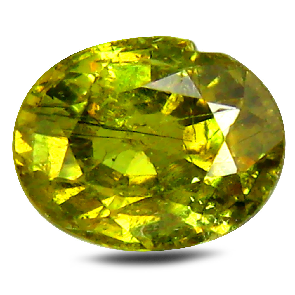 oval cut (6 x 5 mm) un-heated demantoid garnet loose gemstone