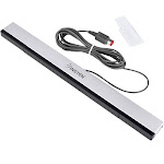 Insten Wired Sensor Bar for Nintendo Wii and Wii U Console (with Stand)