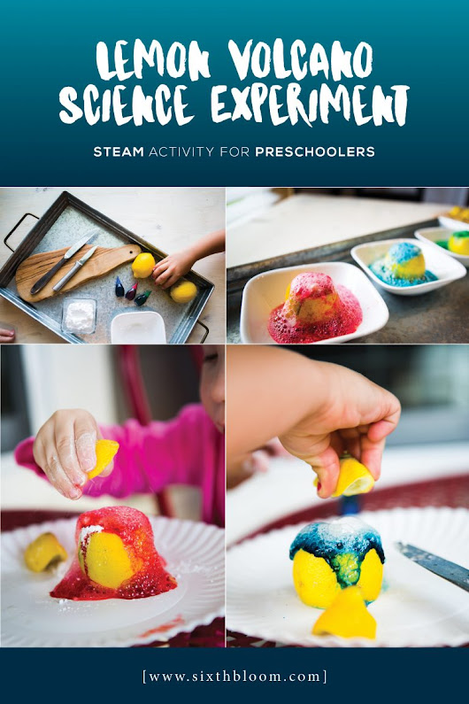 Easy Lemon Volcano Science for Preschoolers - Sixth Bloom- Lifestyle, Photography & Family Blog