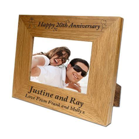 Personalised 25th Wedding Anniversary Oak Frame   Vidaprint