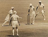 Women's Test Cricket. Anne Palmer (NSW) bowled...